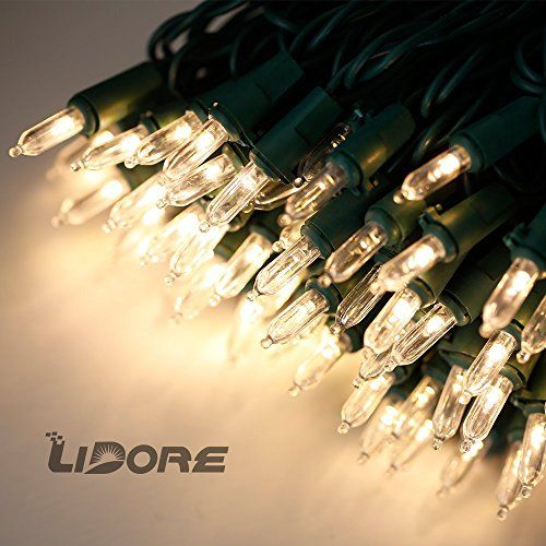 Lidore Super Bright Led Mini Christmas Tree Lights 100 Count Bulbs With 52 Ft Green Wire Warm White Indoor Christmas Lights Mini Christmas Tree Lighting Gifts