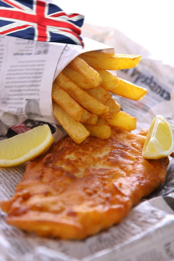 Recipe fish and chips from across the pond with the for Fish chips recipe