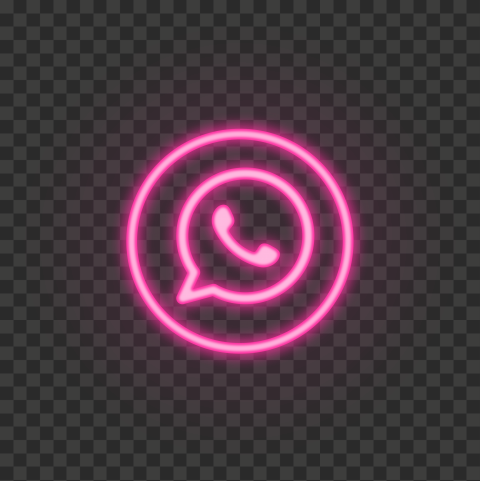 Hd Pink Neon Light Whatsapp Round Circle Logo Icon Png Circle Logos Pink Neon Lights Logo Icons