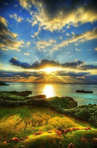 自然と朝焼けの画像