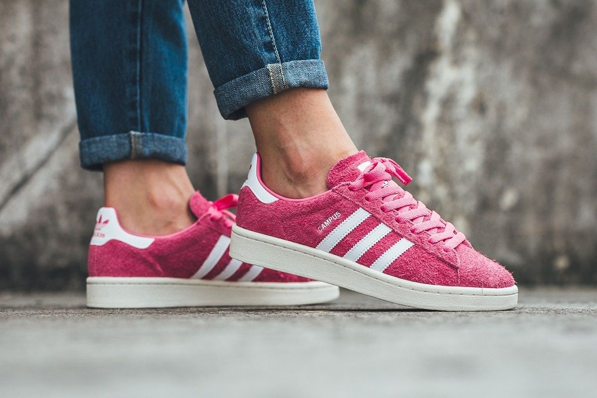 The Adidas Originals Campus Gets A Fuchsia Pink Makeover Adidas Adidas Originals Adidas Campus