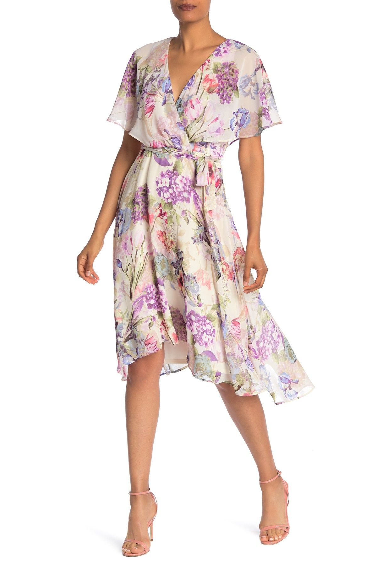 fd1ab5e07a Gabby Skye - Short Sleeve Floral Chiffon Dress is now 59% off. Free Shipping