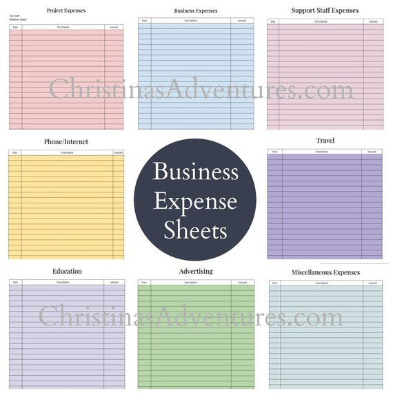 Instant download - Tax organization printables for small business