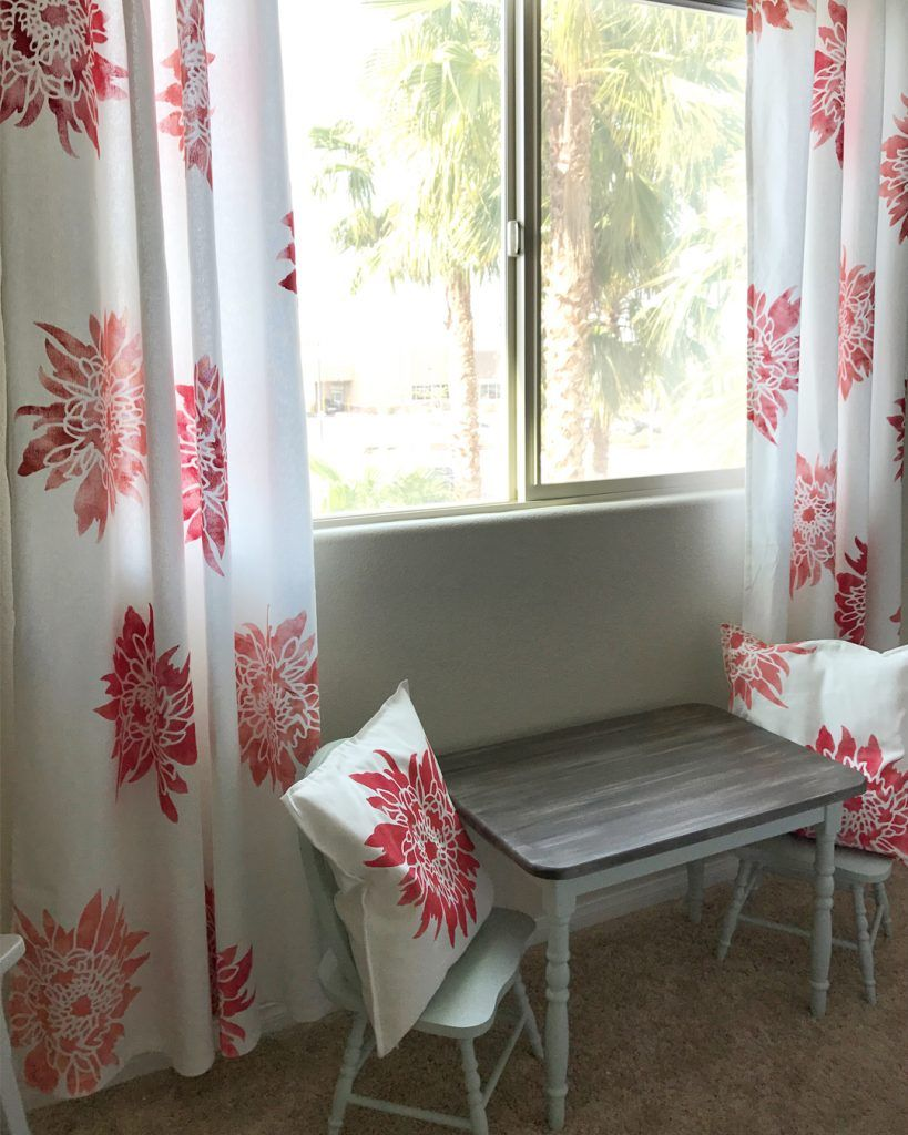 Tie a room together with chalk paintucurtains stencils curtains