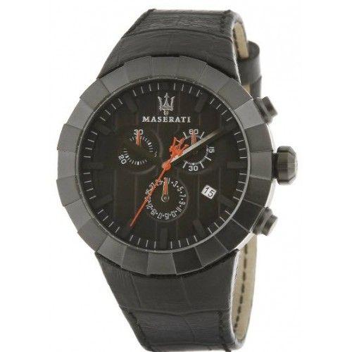Orologio MASERATI Tridente Multifunction pelle nera - R8871603001