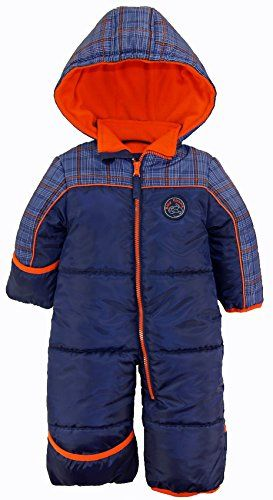 bf55fcd6e iXtreme Baby Boys Infant Cute Teddy Bear One Piece Puffer Winter Snowsuit  Navy 24 Months