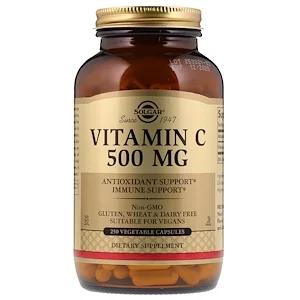 Solgar Vitamin C 500 Mg 250 Vegetable Capsules Vegetable Capsules Vitamins Mineral Food