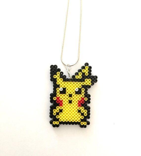 Pokemon Pikachu Perler Bead Necklace - Perler Bead, Pokemon