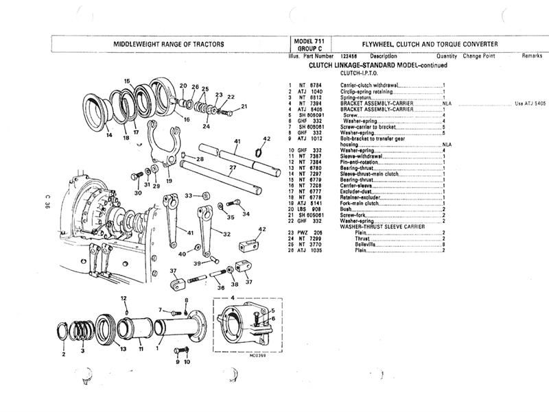 clutch & gearbox parts diagrams