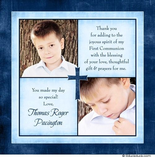 Thank You Quotes For Baby Gift: First Communion Thank You Wording Ideas