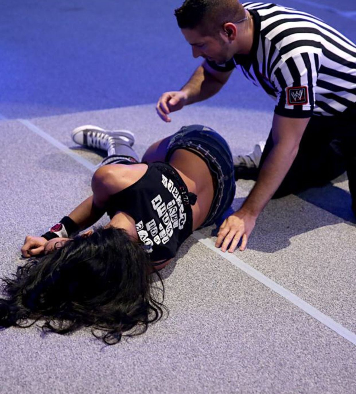 Clearly AJ LEE AND PAIGE NAKID congratulate