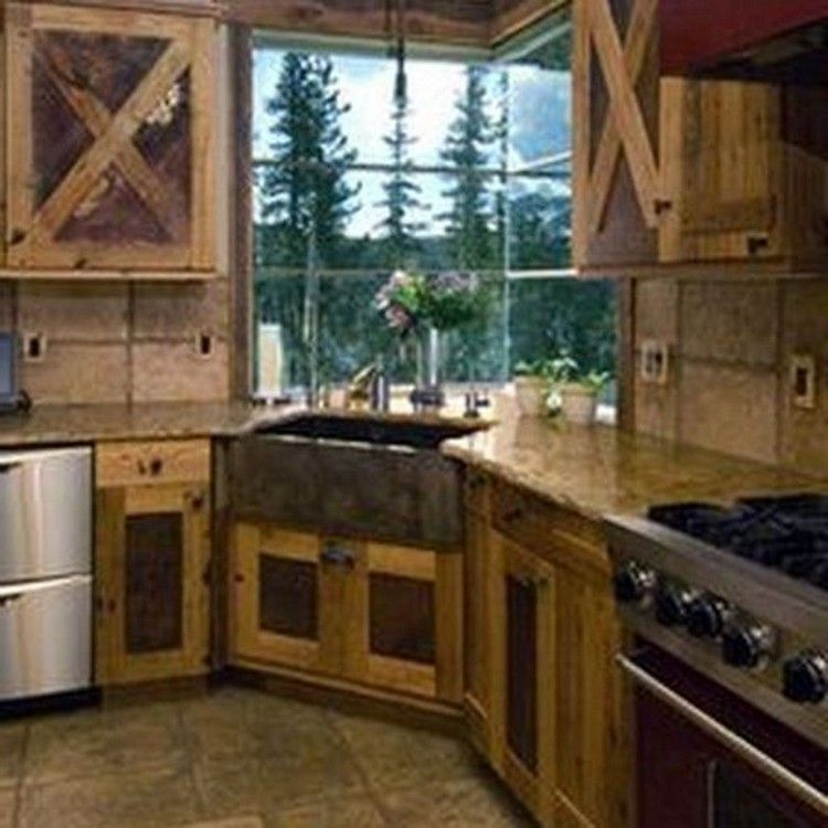 47 Smart Rustic Western Style Kitchen Decorations Ideas #rustic