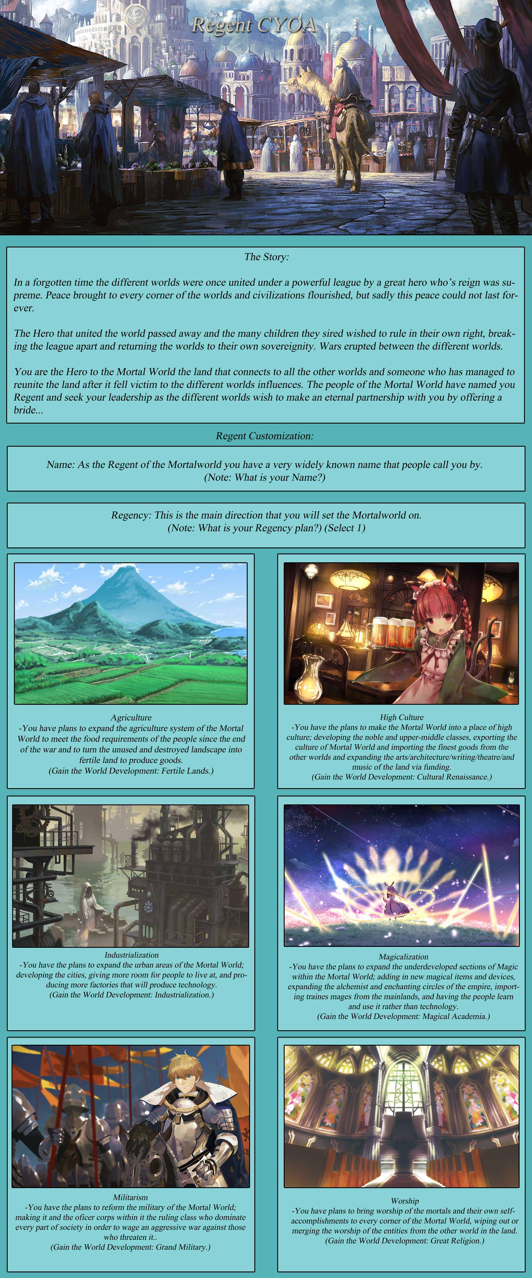 Regent Cyoa Cyoa Create Your Own Adventure Space Hero