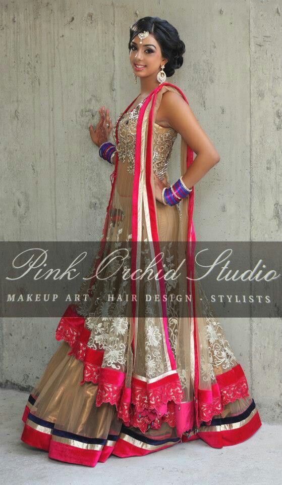 beautiful makeup and outfit...love the style and work for the sangeet