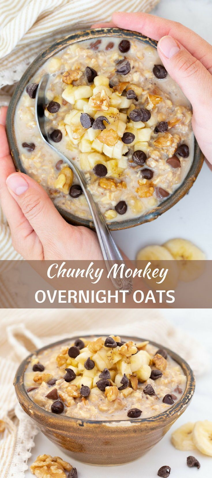 Chunky Monkey Overnight Oats
