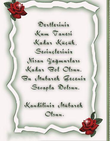 Regaip Kandili Kutlama Mesajlari Resimli 01 05 2014 Guzel Ve Ozlu Sozler Oglumu Seviyorum Mesajlar Dualar