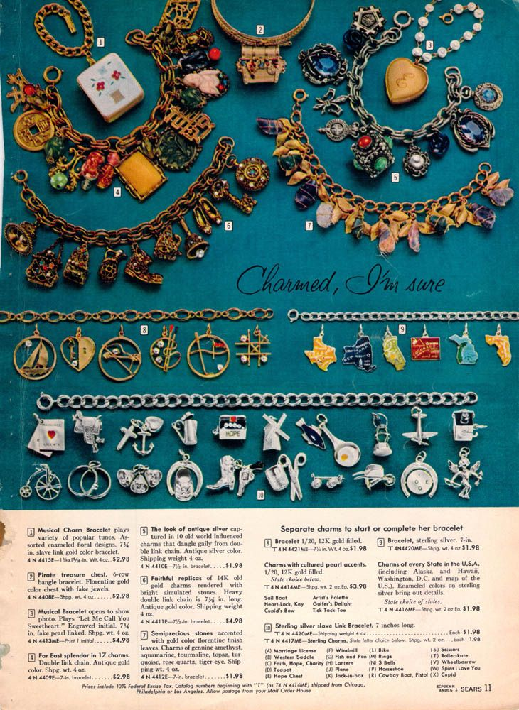 c9dcd3dd charm bracelets / 1959 Sears Christmas book | Clothing & Accessories ...