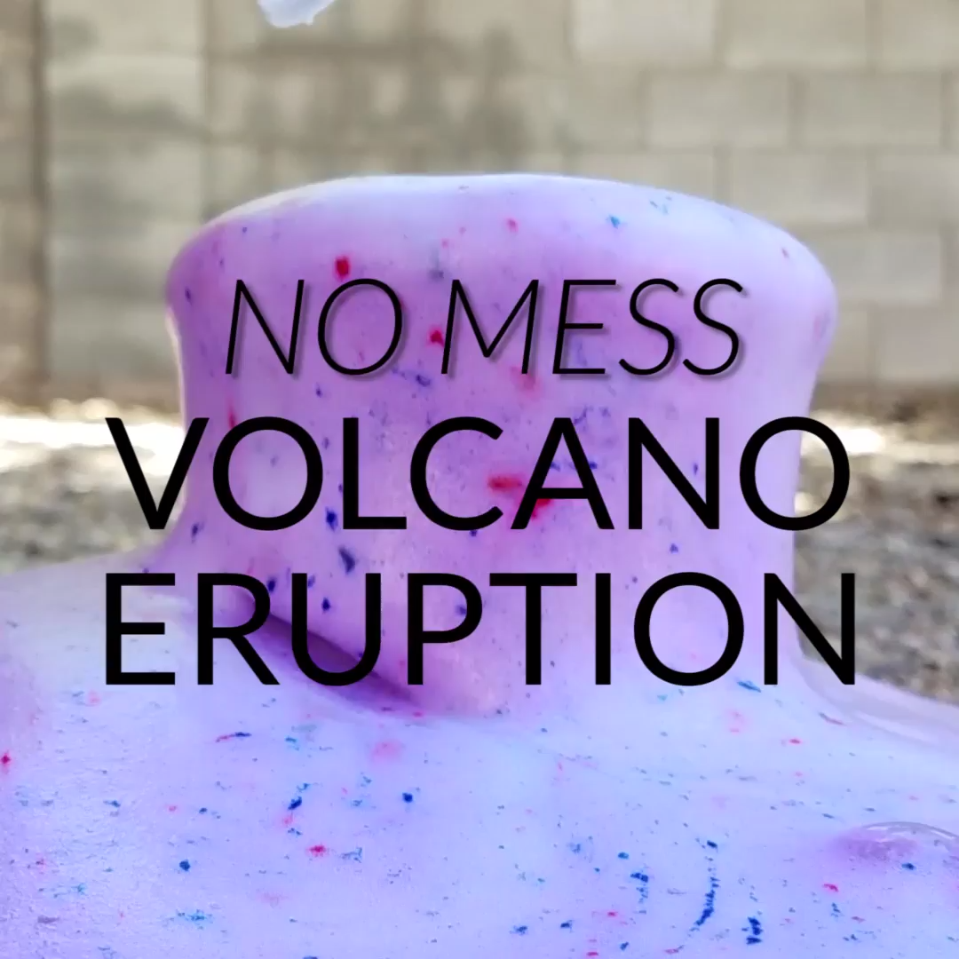 Easy Outdoor Color Changing Volcano with Baking Soda and Vinegar - Preschool Inspirations