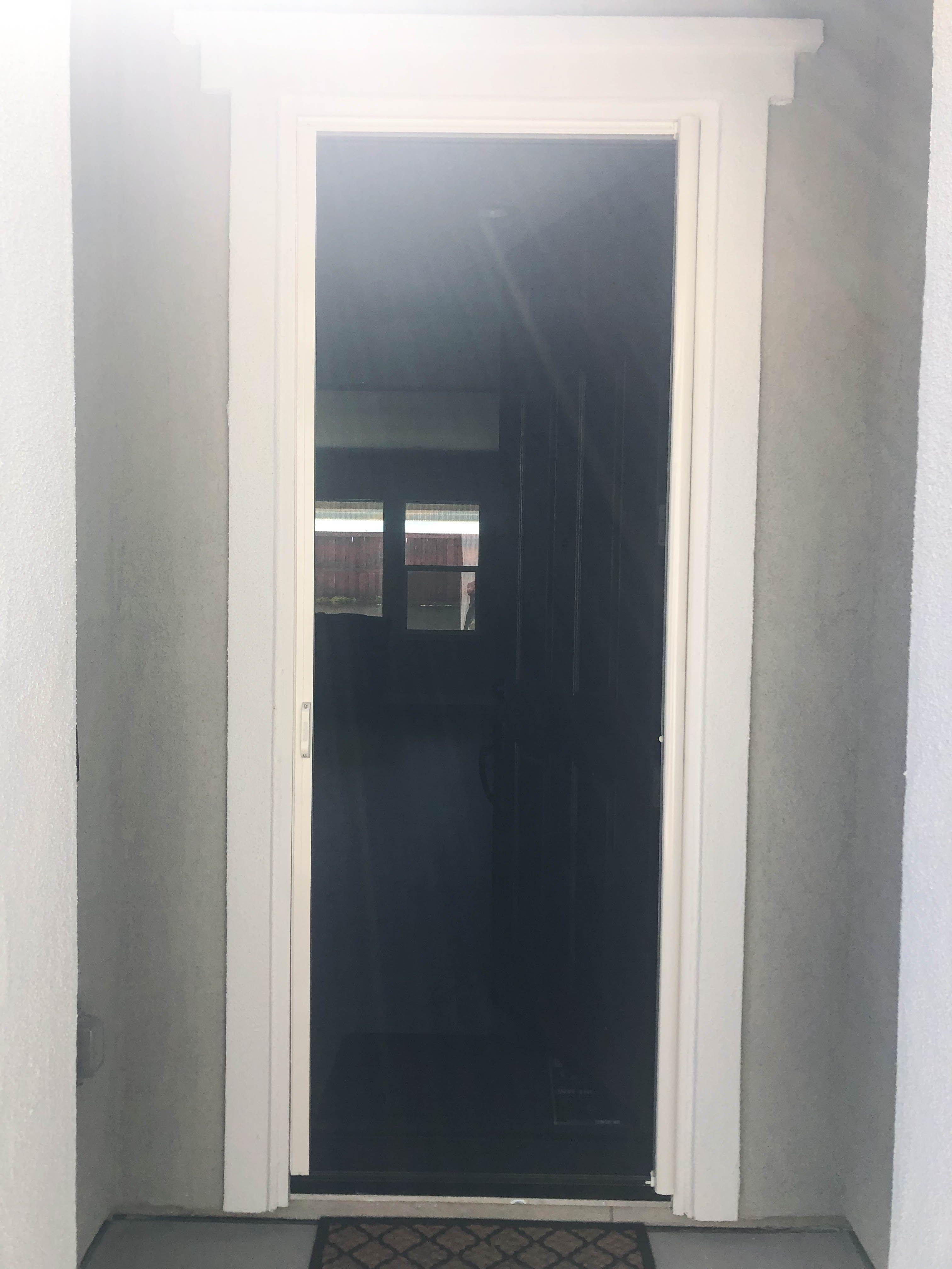 We installed two whiteframed, singledoor StowAway