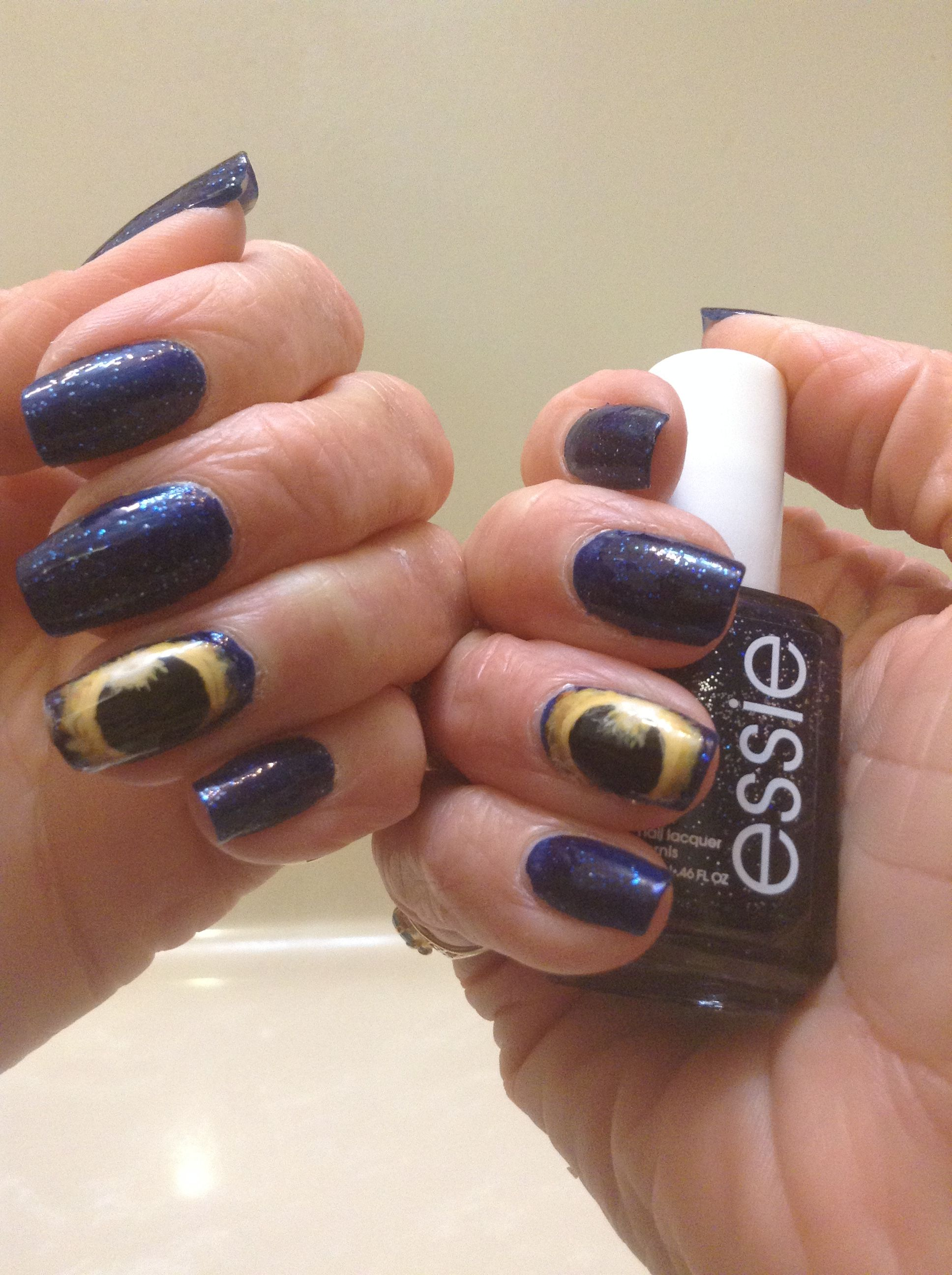 Eclipse nails, Essie Starry Starry Night, Robin Moses nail art | My ...