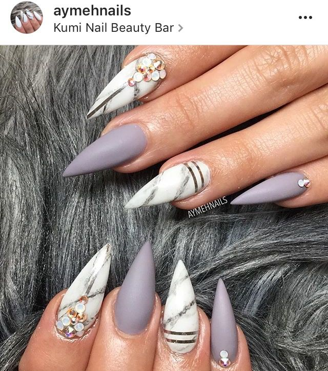 Pin by Micaela Cancino on Nailed It   Pinterest   Marble nails and ...