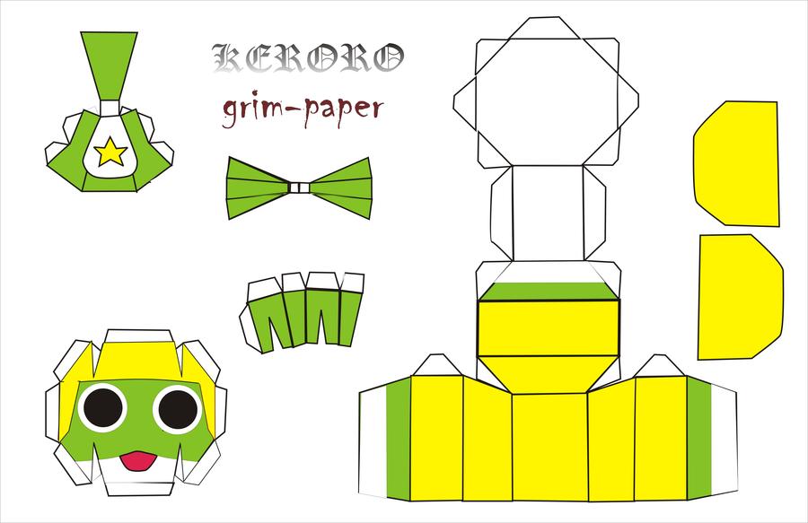 Keroro Anime Papercraft   Anime Papercrafts