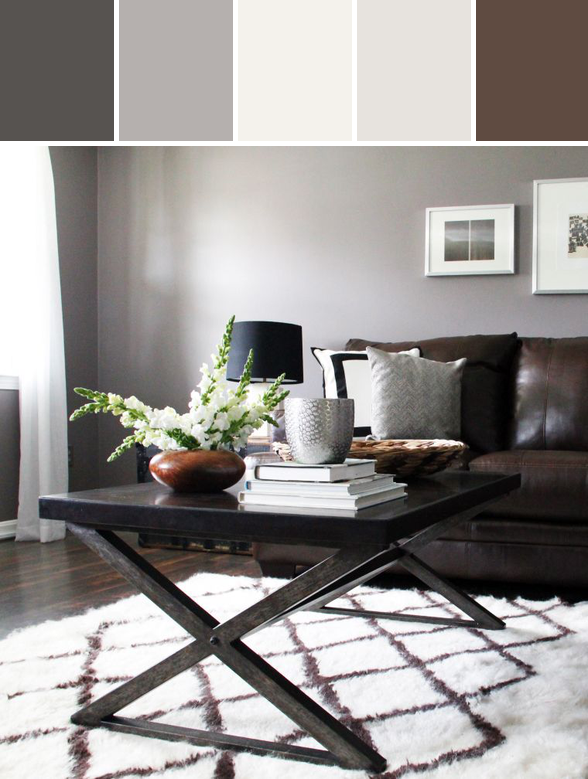 Modern Rustic Living Room Designed By AllModern Via Stylyze Grey And Brown Living  Room, Gray