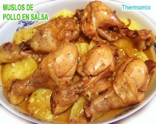 muslitos de pollo en salsa con patatas