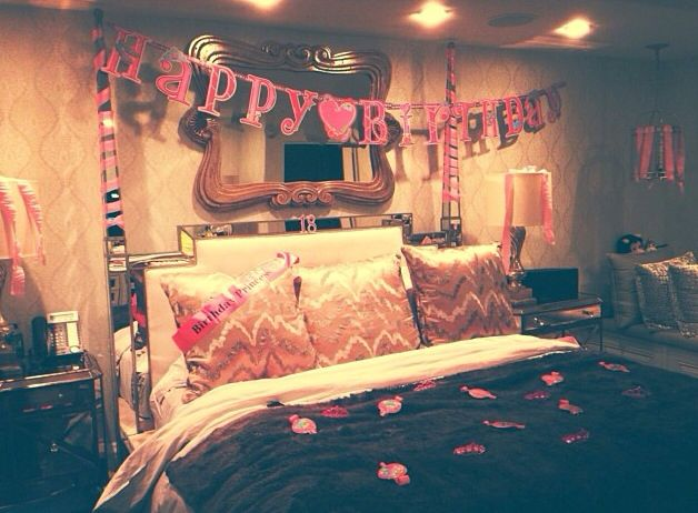 Bedroom Birthday Decorations DIY Pinterest Birthday decorations