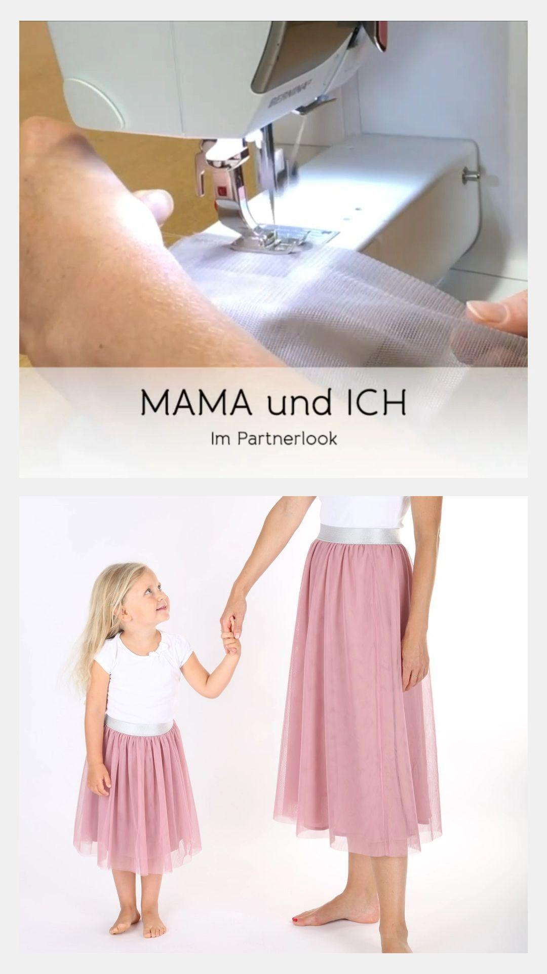 Tüllrock nähen – Mama und Tochter