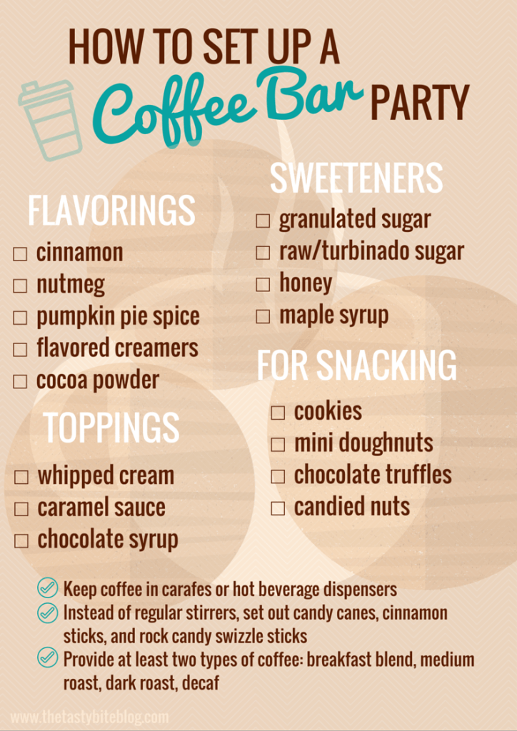 How to set up a coffee bar party kitchen hacks and how for How to set up a coffee station