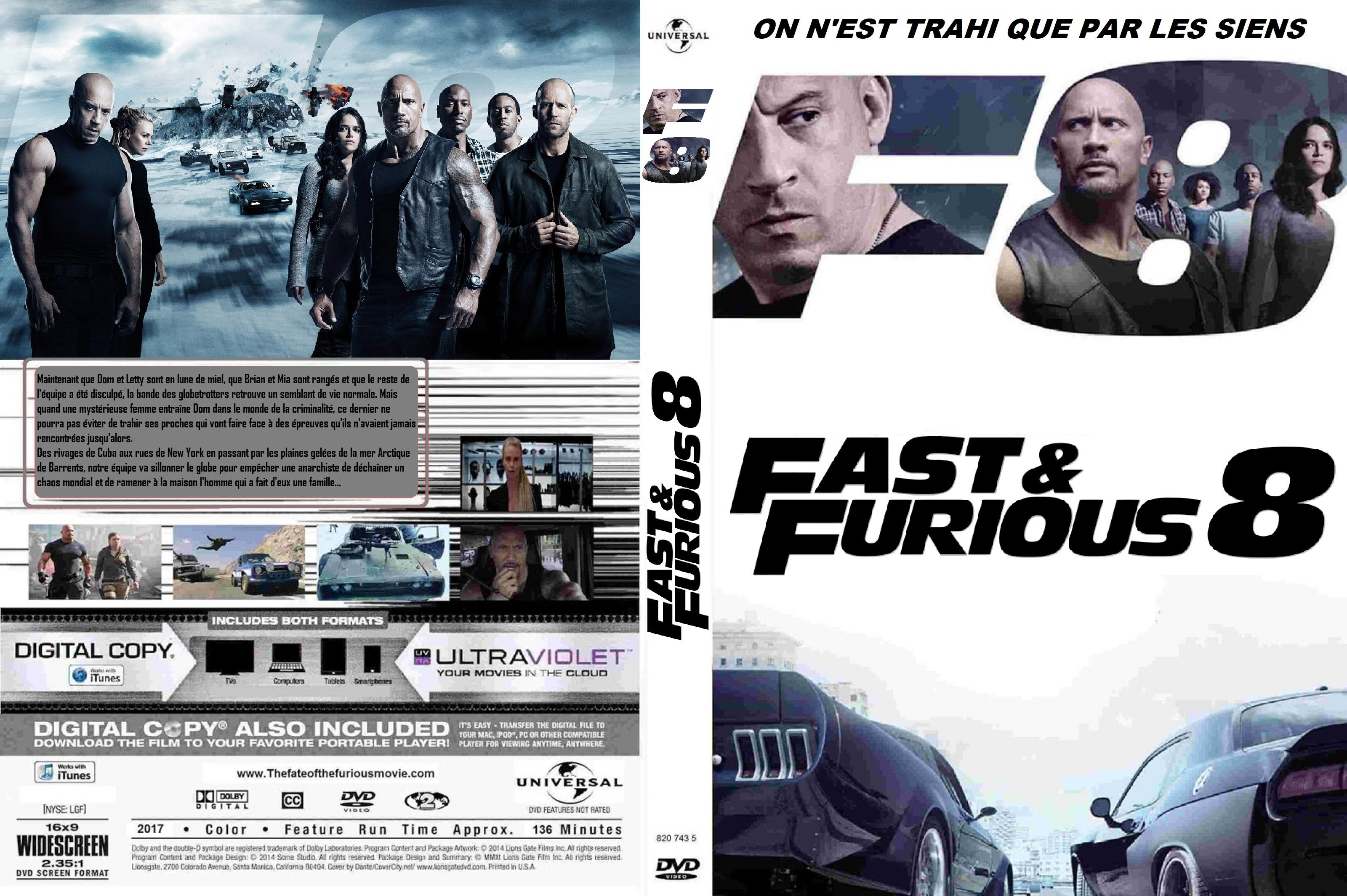 jaquette dvd fast and furious 8 custom jaquettes dvd pinterest. Black Bedroom Furniture Sets. Home Design Ideas