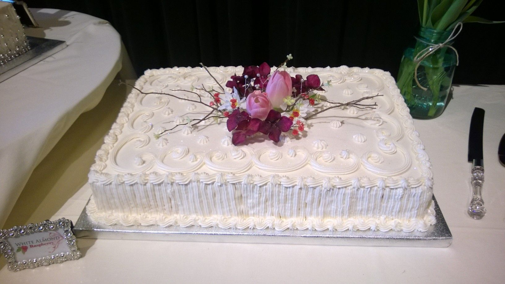 wedding sheet cake | For Goodness Cakes! by Lindsey | Wedding