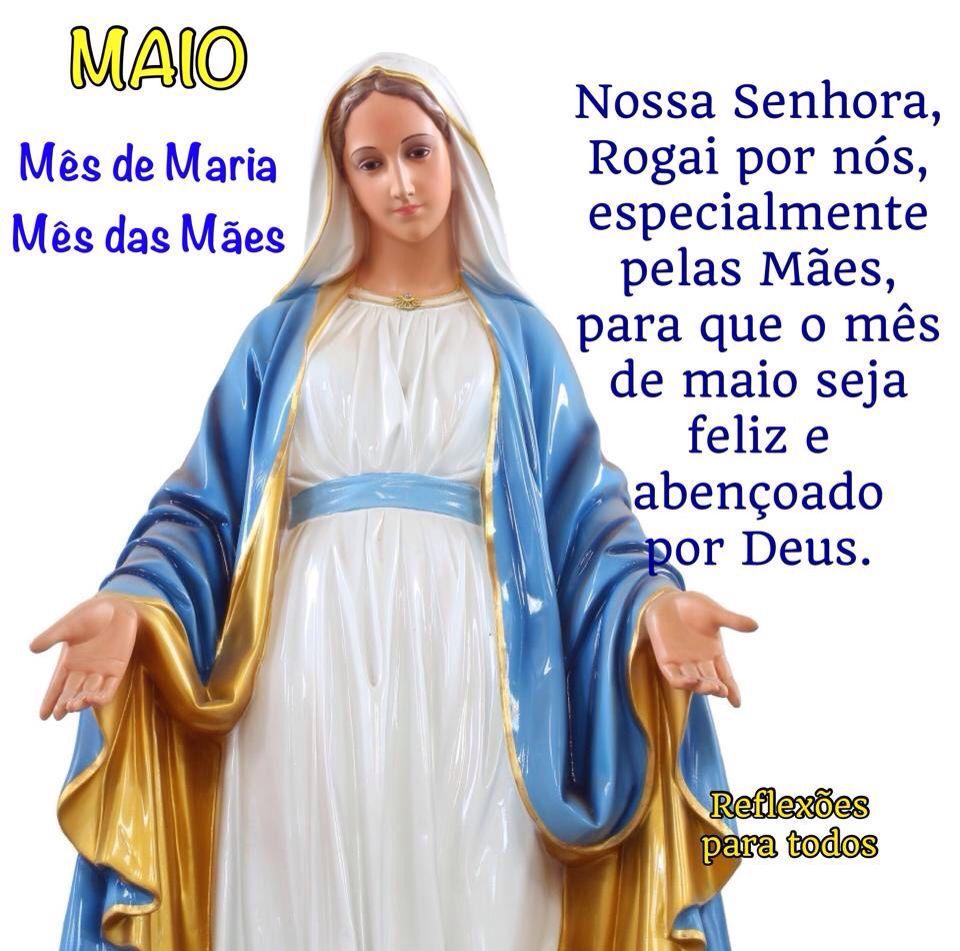 Maio Mes De Maria Das Maes Com Imagens Imaculada