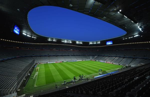 Allianz arena looks as impressive as ever as we await the arrival of the fans ahead of this match.