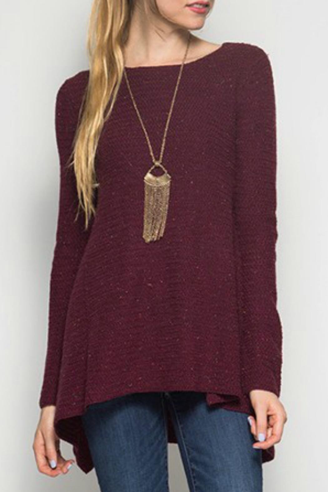 She   Sky Burgundy Tunic Sweater   Cozy sweaters, Warm and Tunics
