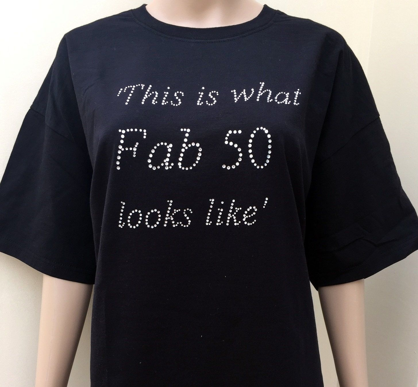 50th Birthday Tshirt 50 Gift Shirt By Personaliseddiamante On Etsy