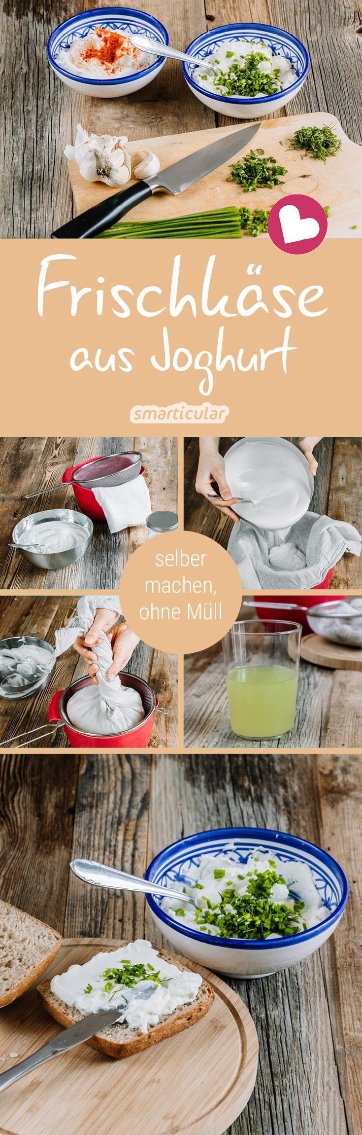 Frischkäse selber machen aus Joghurt - ohne Plastik