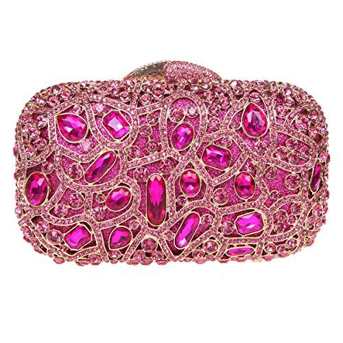 a0dae113d7 Fawziya Bling Luxury Clutch Purse Handbags Womens Evening Bags-Fuchsia    Additional info