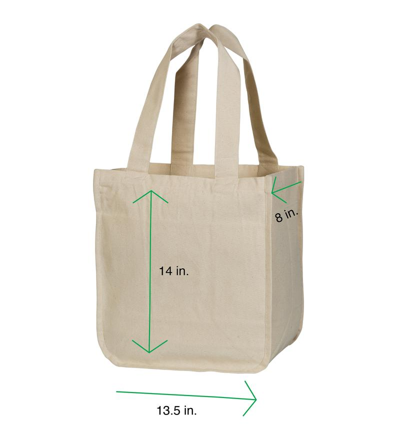 Organic Cotton Tote Bags with Sleeves – Extremely Sturdy and High Quality Grocery Tote Bags