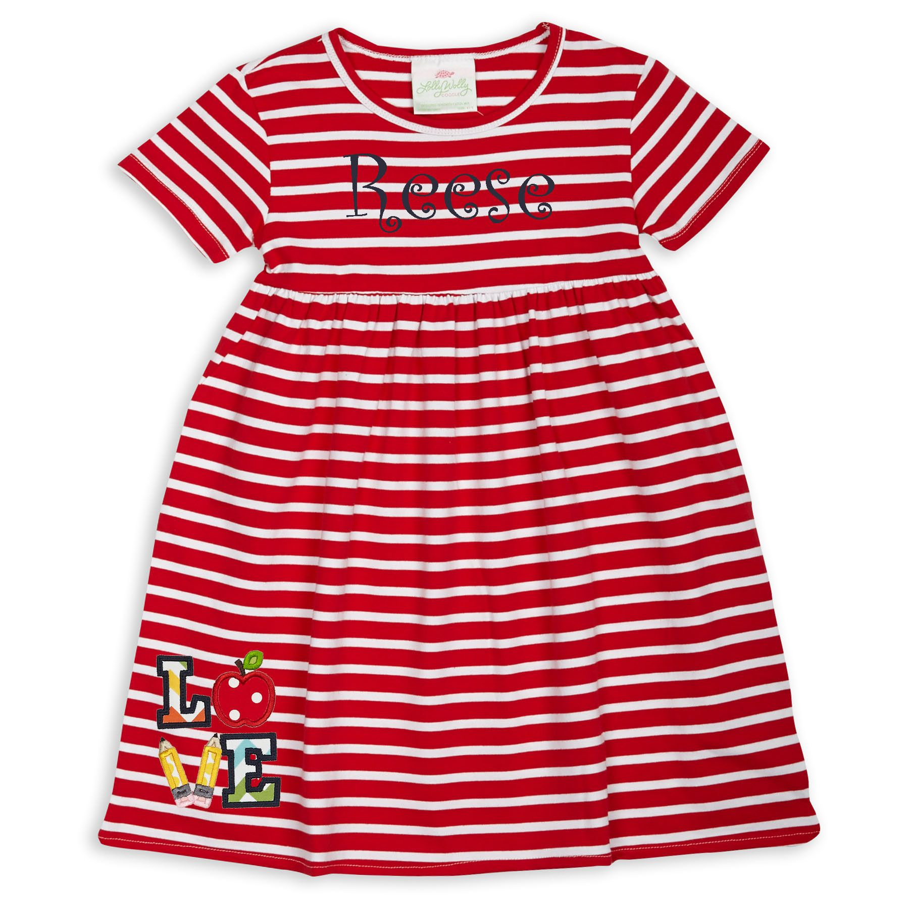 Dress code baby pink  Swoon Love this Red Stripe Empire Cotton Dress I discovered at