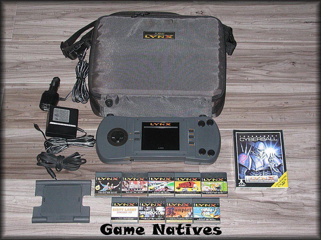Atari Lynx I Gray Handheld System w/10 Games/5 Accessories - Bundle ...