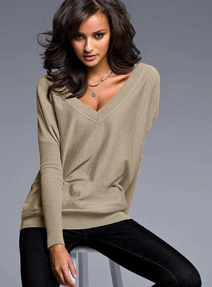 Cotton & Cashmere V-neck Sweater #VictoriasSecret http://www.victoriassecret.com/clothing/all-sweaters/cotton-cashmere-v-neck-sweater?ProductID=10532=OLS?cm_mmc=pinterest-_-product-_-x-_-x