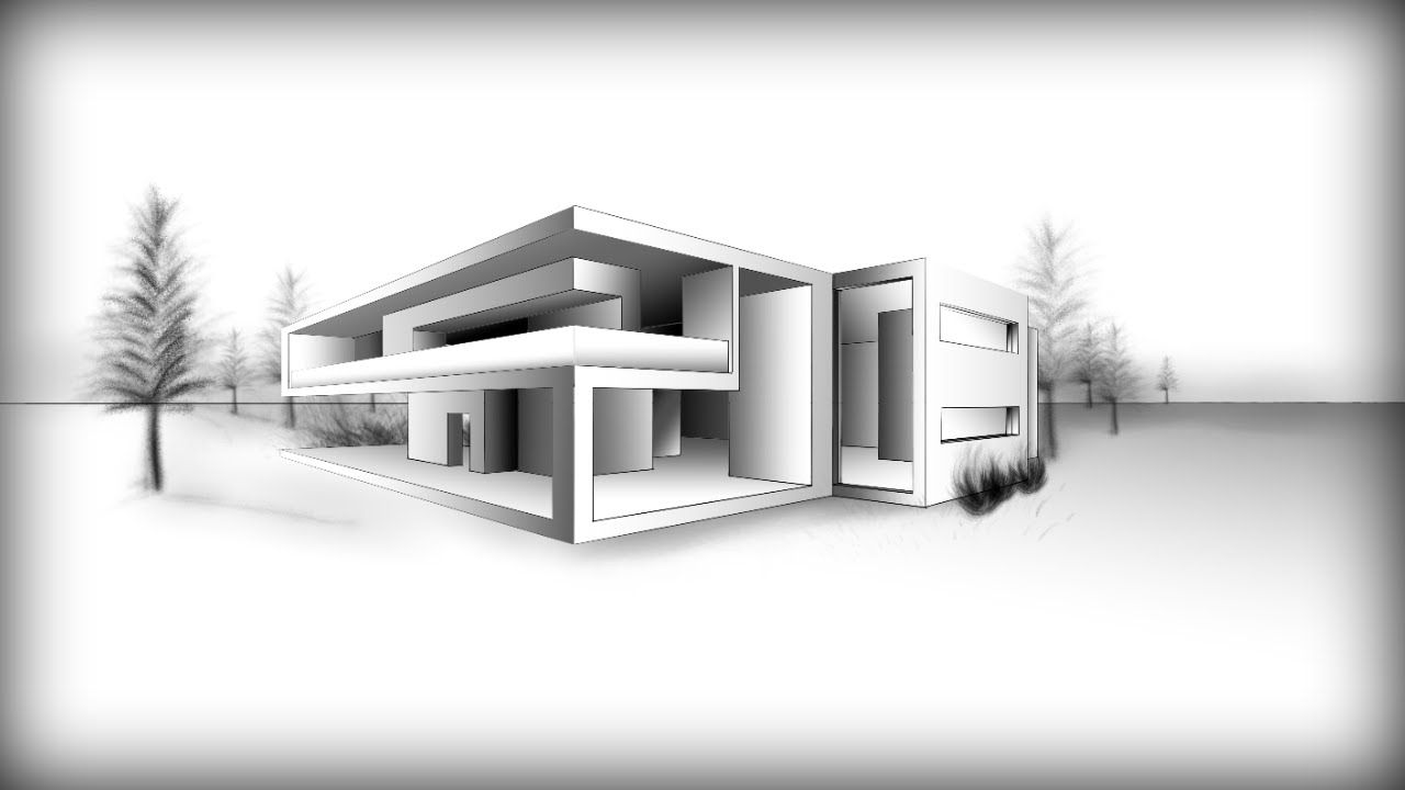 Home Design Sketch Modern House Architecture Sketch Architecture Lovely Inspiration