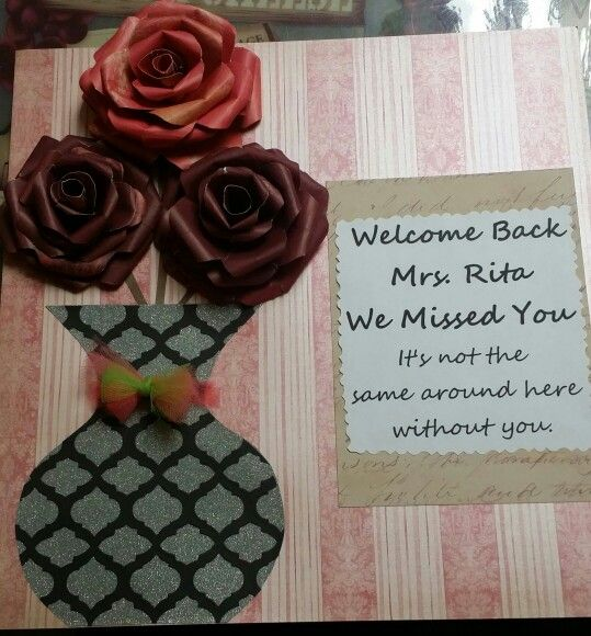 Welcome Back Card Welcome Card Kids Cards Special Cards