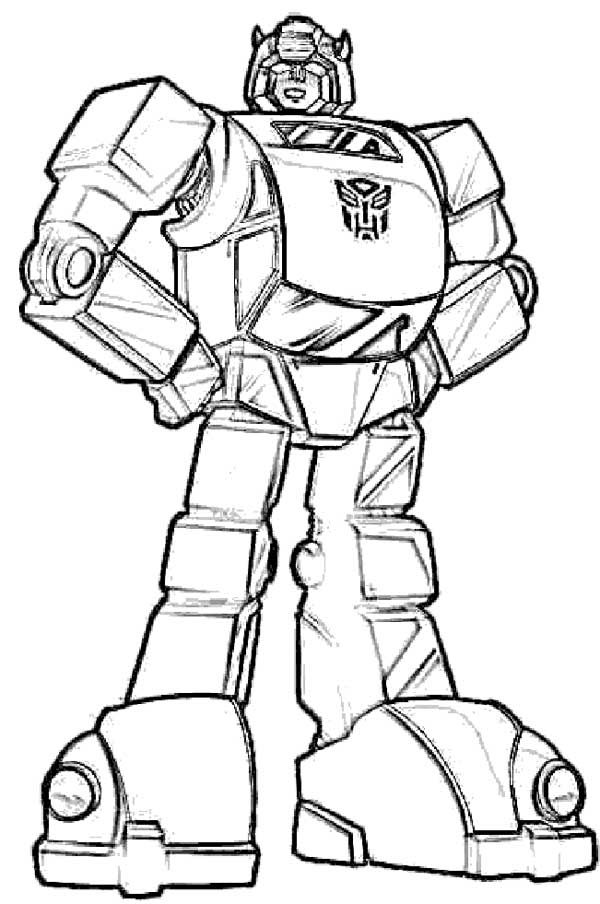 Bumblebee Robot Coloring Pages