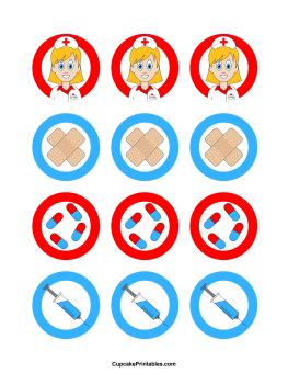 Nurse Cupcake Toppers | Festa médica, Camiseta dia dos pais