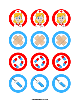 Nurse Cupcake Toppers
