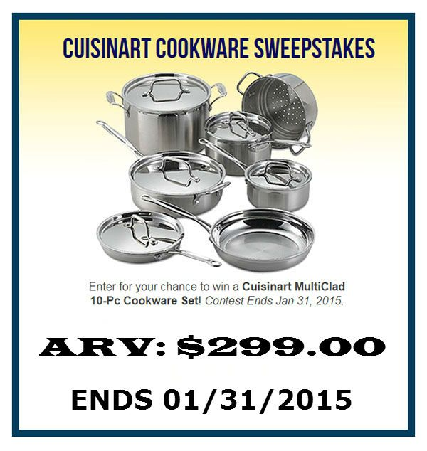 Wedding Sweepstakes 2015 Cuisinart Cookware Ends January 31 2015