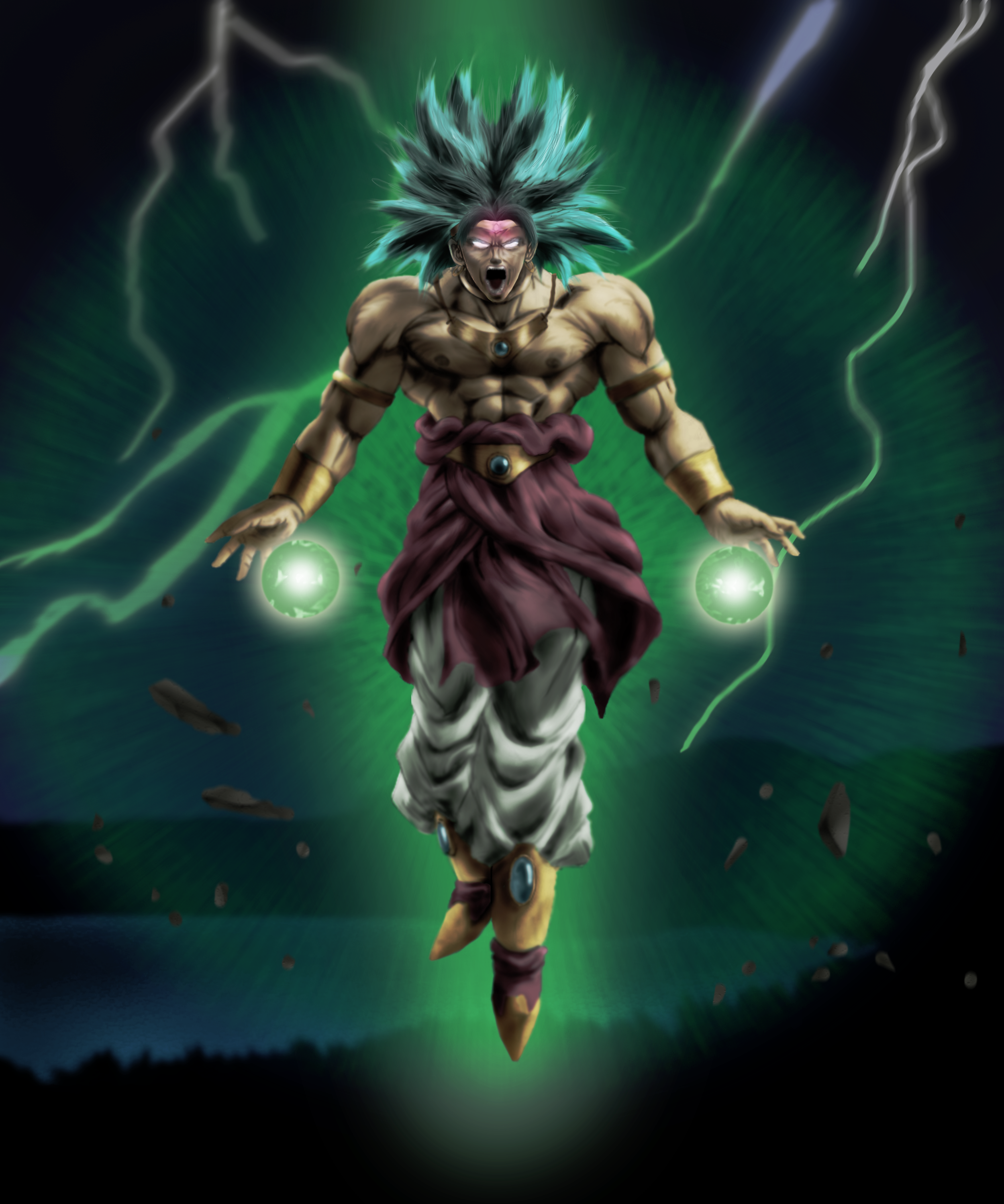 Broly Legendary Super Saiyan By Shibuz4 Deviantart Com On